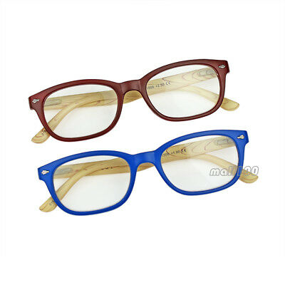 Full-Rim Reading Glasses Anti Fatigue Eyeglasses Plastic Blue Frame +2.5~+3.5