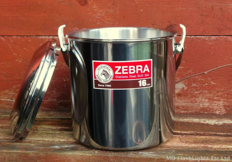 16CM STAINLESS STEEL  ZEBRA BILLY CAN COOKING POT BUSHCRAFT SURVIVAL CAMPING  honest service