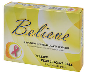 3-Dozen-Believe-Pearlescent-Ladies-Golf-Balls-Yellow-By-Founders-Club
