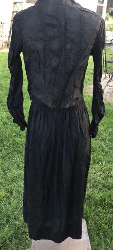Antique Victorian Women Rayon Skirt Silk Blouse Se