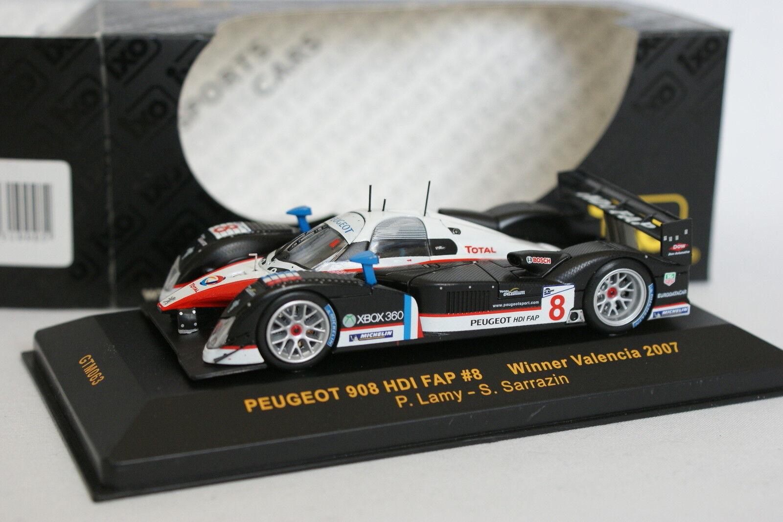 Ixo 1 43 - Peugeot 908 HDI FAP WINNER Valencia 2007