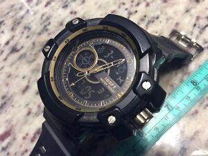SKMEI Sports wrist watch black stopwatch digital analog