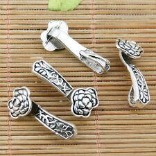 8PCS Antique style Silver tone Alloy Crown charm pendants 39*22*19mm