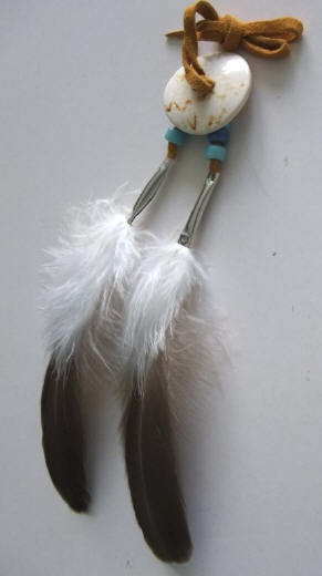 Iroquois Style Goose Feather Hair Tie-Native American