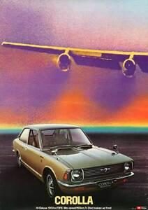 TOYOTA-COROLLA-1976-vintage-Japanese-advertising-poster-B1-29x41-CARS-AIRPLANE