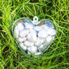 X100 en forma de corazón vacío Transparente fillabale contenedores (60mm) día de San Valentín Regalos