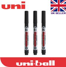 3 X Uni Super Ink Marker Black Permanent Cd Dvd Pna 125 Markersuper Inkblack