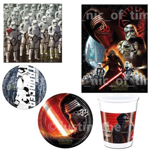 Star Wars The Force despierta Vajilla De Fiesta De Cumpleaños Para Adultos Niños Niños Niños