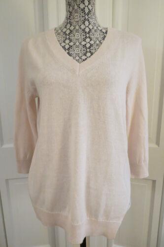 255 Bleg Sweater Nwt Theory Blend Pink Cashmere Pretty Pullover Medium 4z5qw