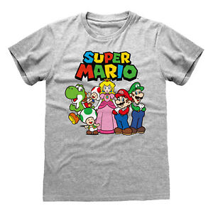 Official-Super-Mario-Vintage-Group-T-Shirt-Nintendo-Luigi-Daisy-NES-Game-Yoshi