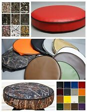 "Bar Stool Cover vinyl or camo pub / kitchen / snack in 25 colors 2"" SIDES (W)"