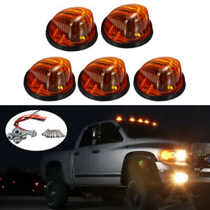 5pcs Smoke Lens Cab Marker Clearance Light Top Lamp Covers for Car Pickup Truck