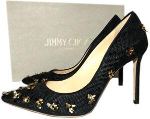 Jimmy Choo Romy Black Pointy Toe Pumps