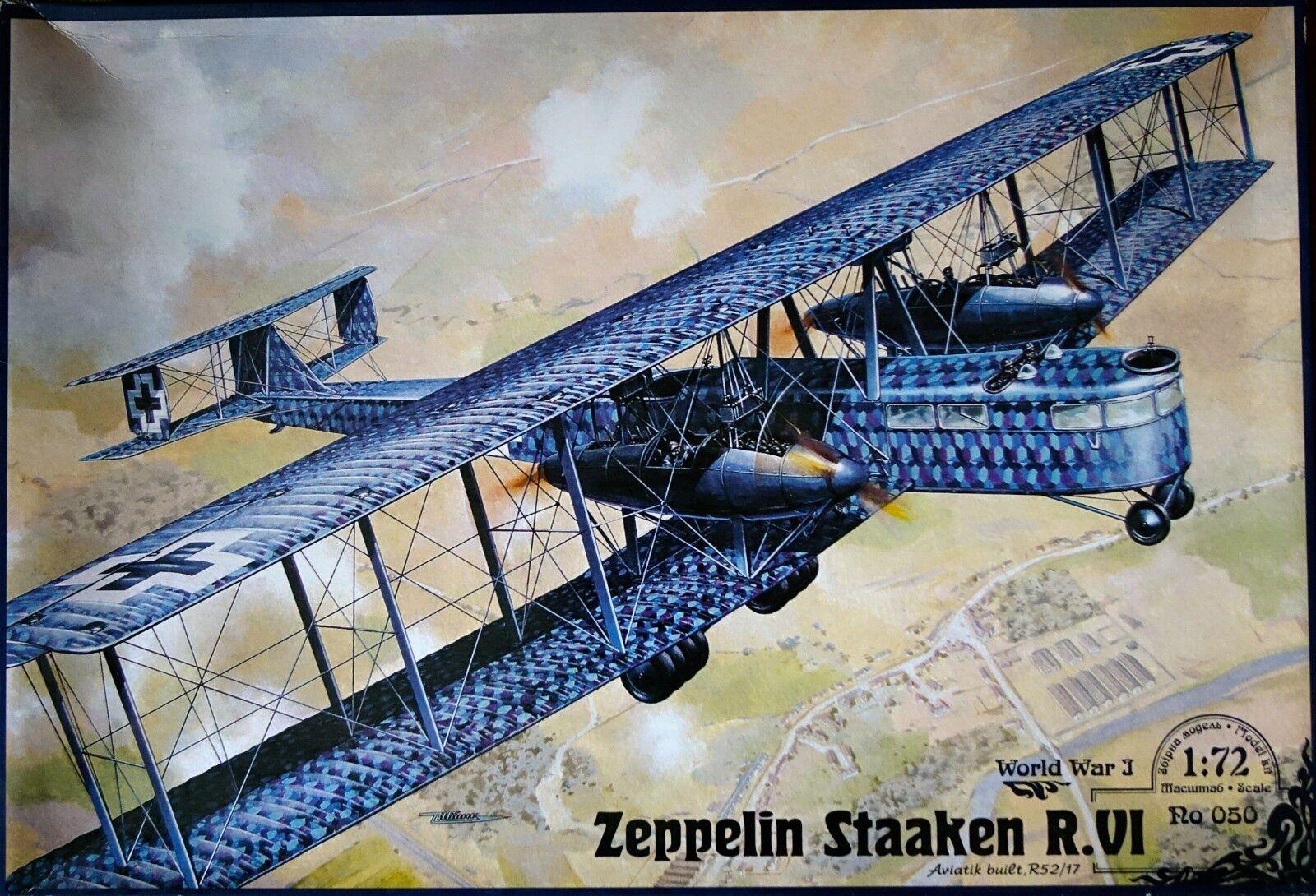 Roden Zeppelin Staaken R.VI Sene Aviatik -byggd R52  17 1  72 skala WI