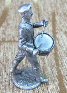 Tin Figurine Figure Toy Soldier Model 1:32 54 mm Russian Drummer White Guard