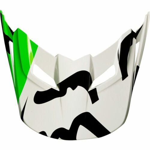 Fox Racing MX18 V1 Race Replacement Helmet Visor White//Black//Green