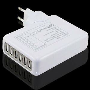 4000mah universal 6x usb port mehrfach adapter home haus netz netzteil ladeger t ebay. Black Bedroom Furniture Sets. Home Design Ideas