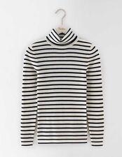 Boden Womens Rib Roll Neck Merino Blend Stripe Sweater Jumper XL BNWT RRP £63.50