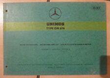 Mercedes Unimog Motoren OM616 Ersatzteilkatalog