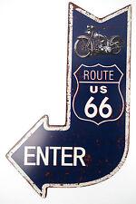 Blechschild ROUTE 66 Schild Garage Hobbyraum RETRO Geburtstag Biker Harley