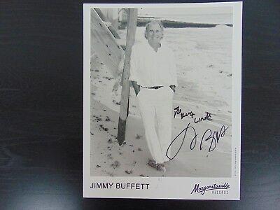 "Entertainment Memorabilia Nice ""coral Reefer Band"" Jimmy Buffett Hand Signed 8x10 B&w Phototodd Mueller Coa Autographs-original"