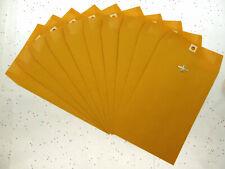 Lot Of 10 6 X 9 Manila Envelopes Clasp Heavy Duty Seal Mailer