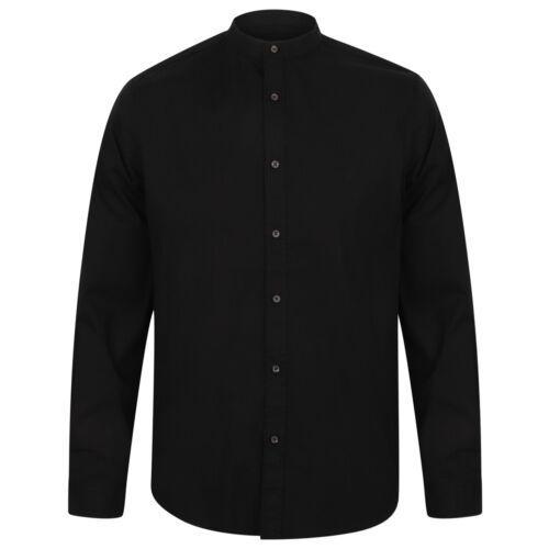 Tokyo Laundry Kampala Grandad Collar Herren Casual Mode Business Hemd 1H9635 neu