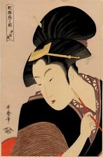 UW»Estampe japonaise courtisane Utamaro 99 G25