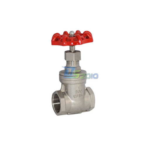 "1/"" Gate Valve Stainless Steel SUS SS 316 Solid Wedge Disc CF8M Heavy Duty NPT"