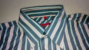 TA7495 SIGNUM RED Hemd m Grau Grün Orange Weiß Gestreift Sehr gut   eBay 7a62dae93d