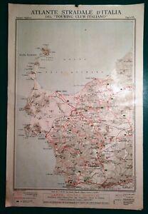 Cartina Geografica Sardegna Nord Ovest.Carta Geografica Antica Sardegna Nord Ovest Sassari Alghero Tci