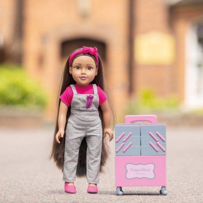 Chad Valley Designafriend 18inch / 45cm Milly Doll With A Stylist's Trolley