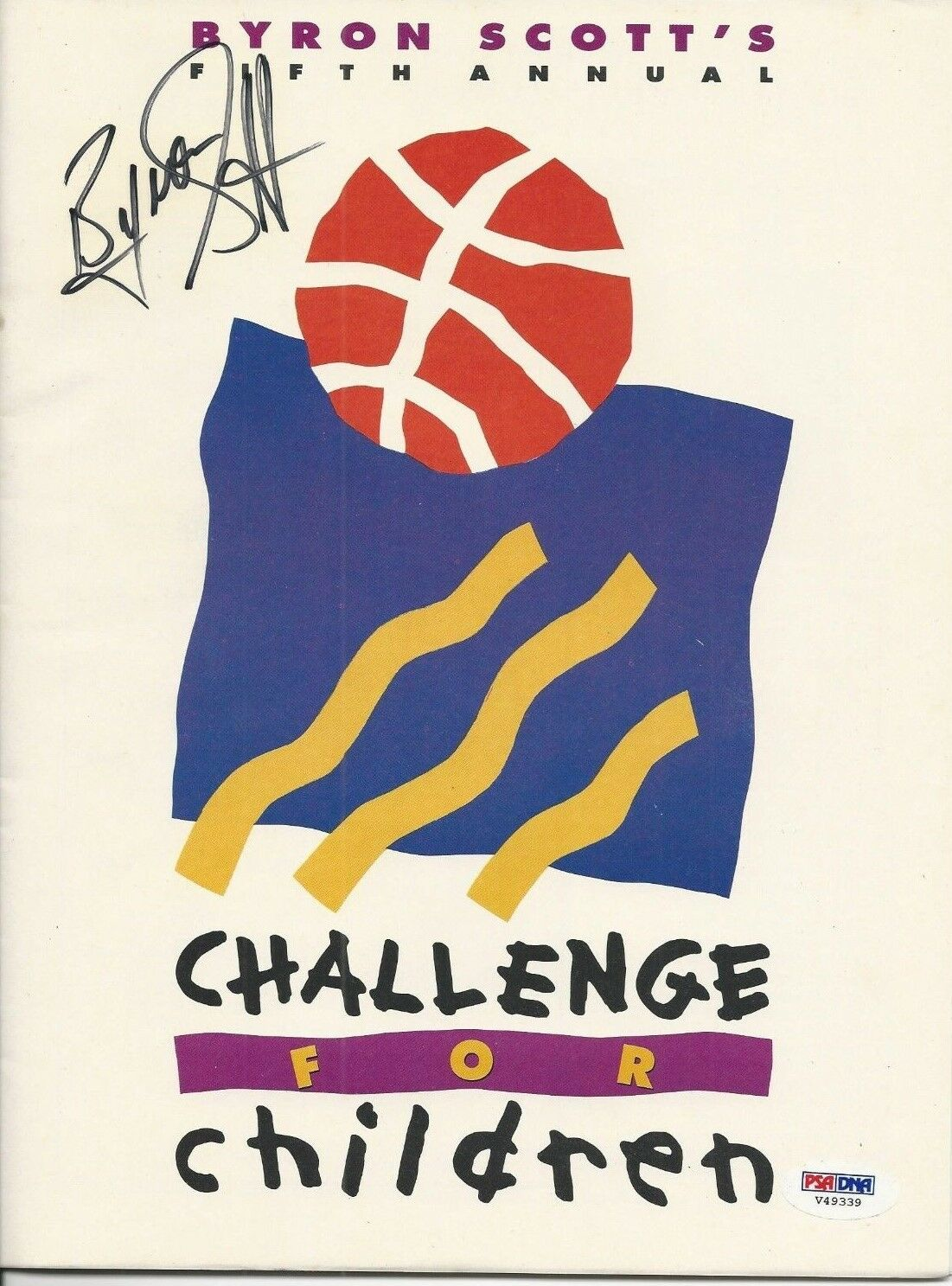 Byron Scott signed Magazine PSA/DNA #V49339