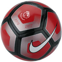 Nike League Epl Pitch Soccer Ball 2016 - 2017 Red/ Black / Silver Size 3