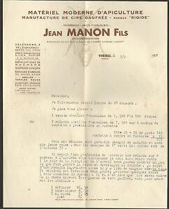 38 Vireu Courrier Jean Manon Apiculteur Ruches Abeilles 1939 ?? U94lycj7-07223512-902010715