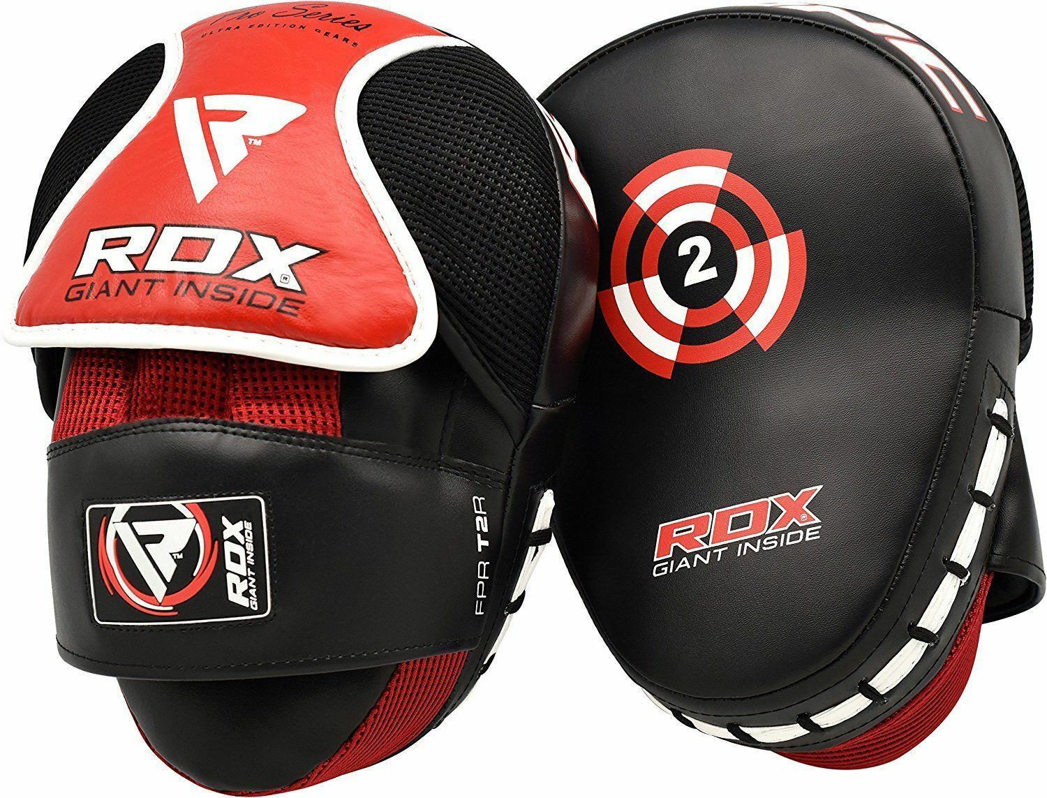 2 x Curved Focus Pads Muay Thai Punch Mitts MMA Training Hook /& Jab Kickboxing