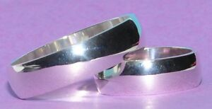 2-Plata-925-Anillos-De-Bodas-Anillos-de-boda-Anillo-de-compromiso-6-mm-Ancho