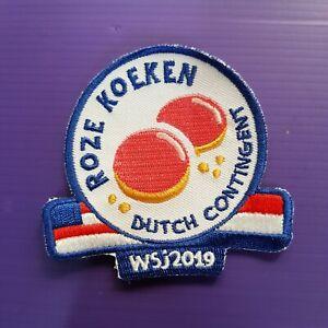24th-World-Scout-Jamboree-2019-Contingent-PATCH-HOLLAND-ROZE-KOEKEN-BADGE