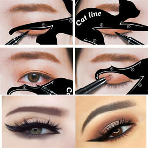 2x-New-Cat-Line-Eye-Makeup-Eyeliner-Stencils-Templates-Makeup-Tools-Kits-For-Eye