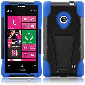 Details about Impact Tough Hybrid Skin Kickstand Case Cover Protector for  Nokia Lumia 521