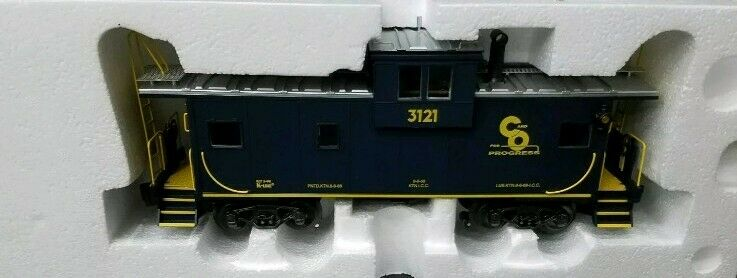 K-Line K613-1251 Chesapeake & Ohio Extended Vision Caboose  3121 NIB (14Q)
