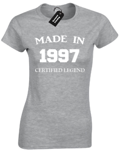 MADE IN 1997 LADIES T-SHIRT FUNNY 21ST BIRTHDAY GIFT PRESENT IDEA MUM DAD DESIGN
