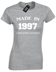 MADE IN 1997 LADIES T-SHIRT FUNNY 21ST BIRTHDAY GIFT PRESENT IDEA MUM DAD DESIGN