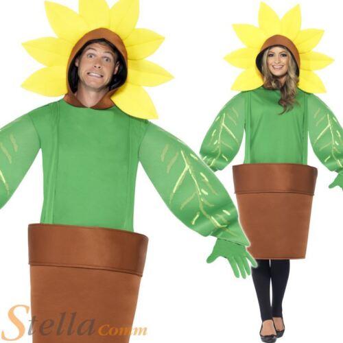 Adult Sunflower Plant Pot Garden Mens Ladies Flower Fancy Dress Costume Outfit