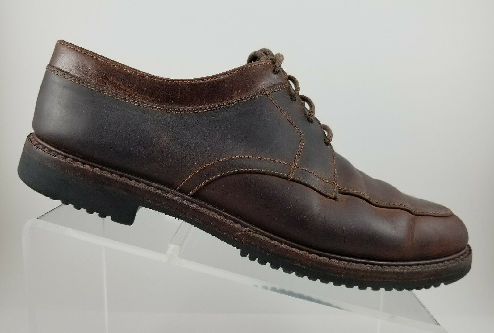 Cole Haan Brown Leather Apron Split Toe Casual Dress Oxfords shoes Mens 10.5M