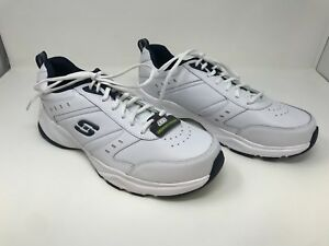 18b55fe7651f Men s Skechers 58355W Hangier Training Sneakers (Wide Width) White Navy F26