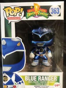Original-Funko-Power-Ranger-Azul-Metalico-Ranger-Pop-Figura-De-Vinilo