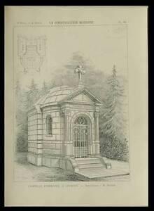 2019 Nouveau Style Lourdes, Chapelle Funeraire - 1898 - Planche Architecture - Besset Moins Cher