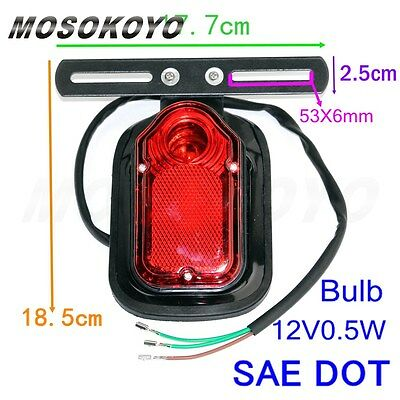 Motorcycle Plastic Tombstone 12V Red TailLight Lamp For Harley Softail Custom
