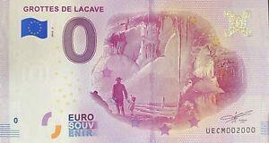 BILLET-0-EURO-GROTTES-DE-LACAVE-FRANCE-2018-NUMERO-2000